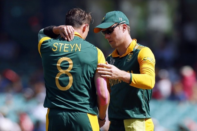 Dale Steyn AB De Villiers South Africa ICC Cricket World Cup 2015