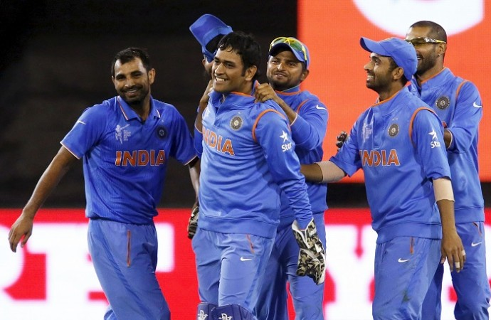 India MS Dhoni Suresh Raina Mohammed Shami Shikhar Dhawan Ajinkya Rahane ICC Cricket World Cup 2015
