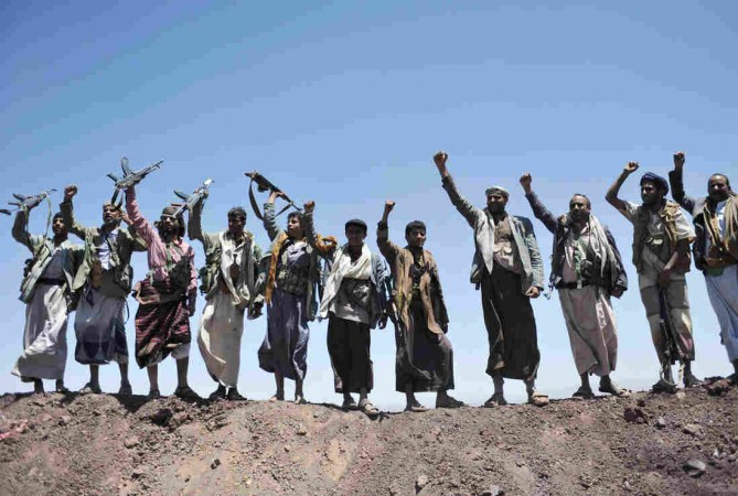 Houthis stage rally in Sana'a against Saudi-led air strikes