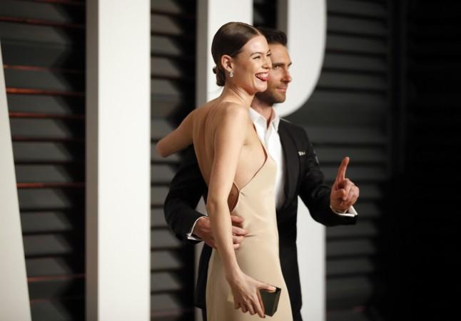 Adam Levine with wife Behati Prinsloo