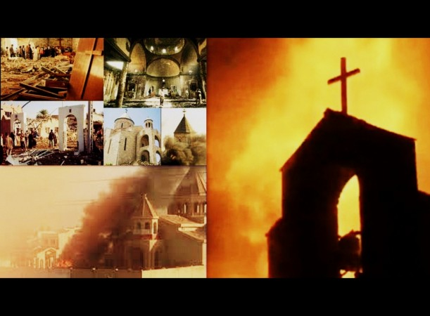 Isis blows up Assyrian church in Syria
