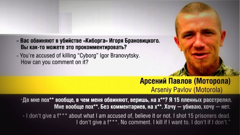 A Russian-backed rebel soldier allegedly has confessed of killing 15 Ukrainian soldiers,who were prisoners of war.