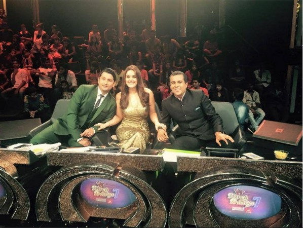Marzi Pestonji, Preity Zinta, Chetan Bhagat on 'Nach Baliye 7' sets