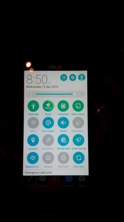 ASUS Zenfone 2 Notification Screen