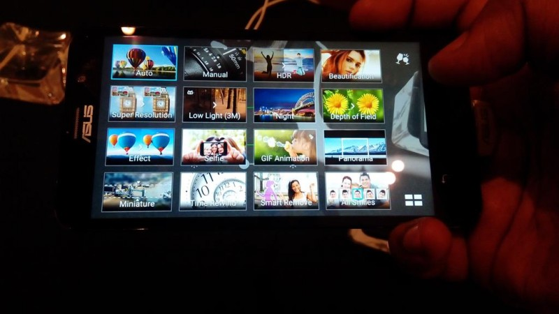 ASUS Zenfone 2 Stock Camera App Menu