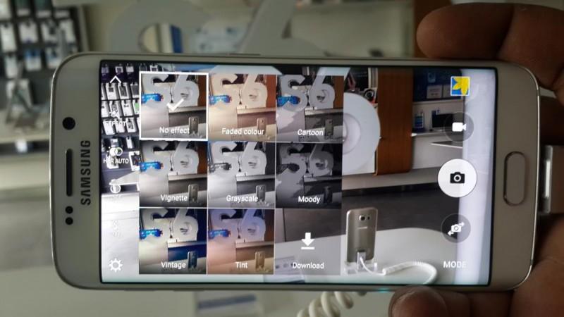 Samsung Galaxy S6 Edge Stock Camera App