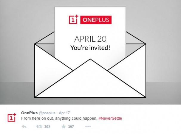 OnePlus to Host Event on 20 April; Will Company Launch Flagship Smartphone One Successor?