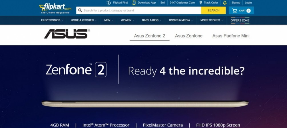 Asus Zenfone 2 (ZE551ML) with 4GB RAM Listed on Flipkart Ahead of India Release
