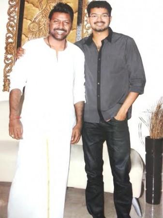 Raghava Lawrence with Vijay