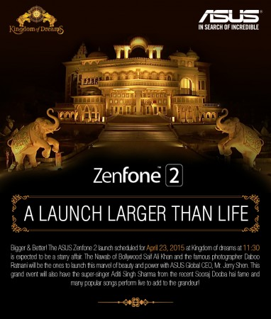 Asus Zenfone 2 Set for India Release on 23 April; Everything you Need to Know