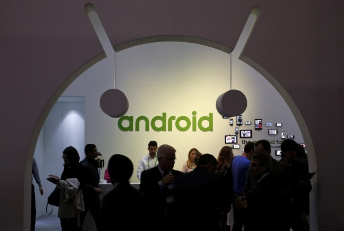 People visit an Android stand at the Mobile World Congress in Barcelona March 4, 2015.