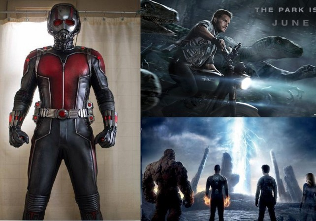 AntMan Jurassic World and Fantastic Four
