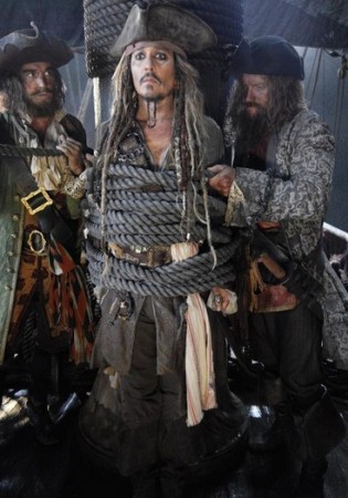 Johnny Depp as Jack Sparrow in Pirates of the Caribbean Dead Men Tell No Tales
