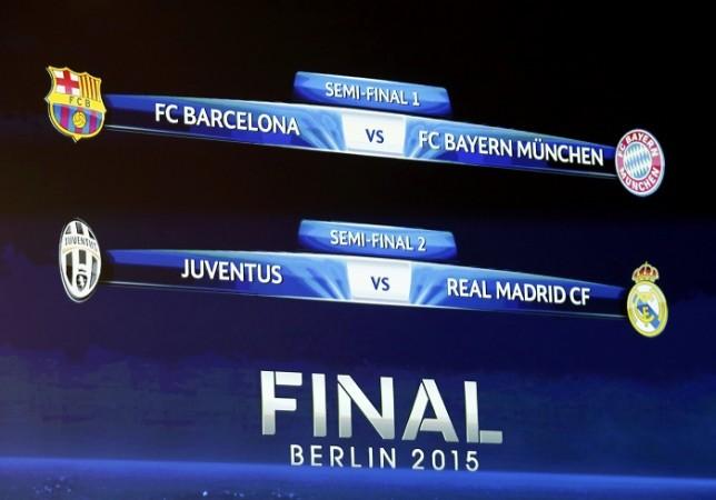 Champions League semi-final draw results