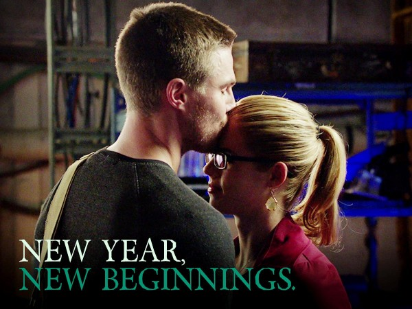 Oliver and Felicity in 'Arrow'