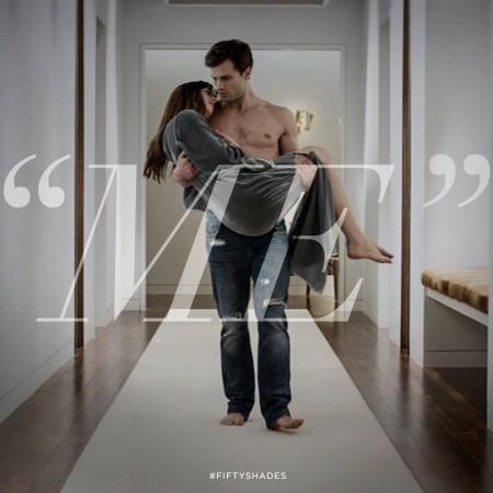 Christian Gray and Dakota Johnson in 'Fifty Shades of Grey'