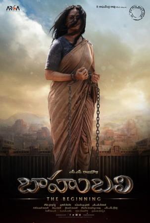 Anushka in Baahubali Poster