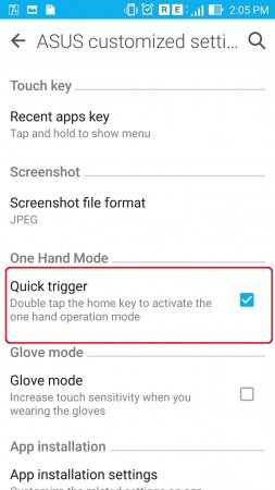How to use Zenfone 2 Single Handed
