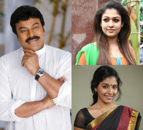 Chiranjeevi, Nayanthara and Anjali