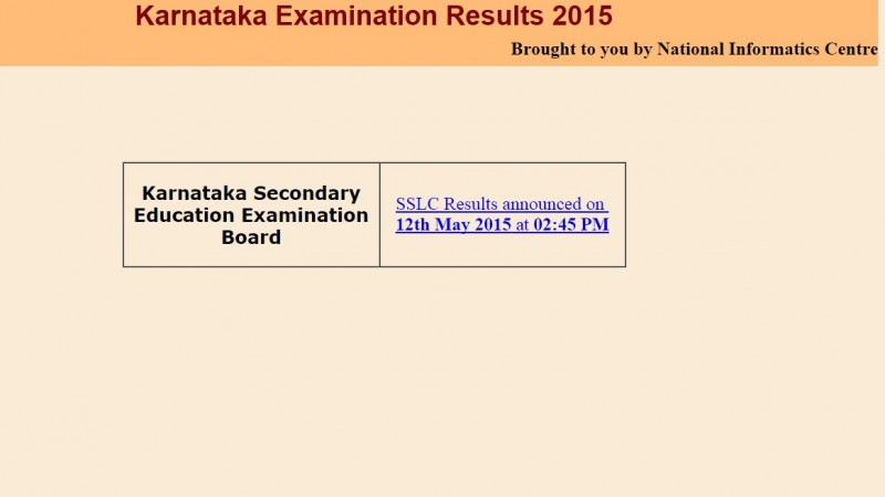 Karnataka Class 10 Board Results 2015 Announced: Where to Check SSLC