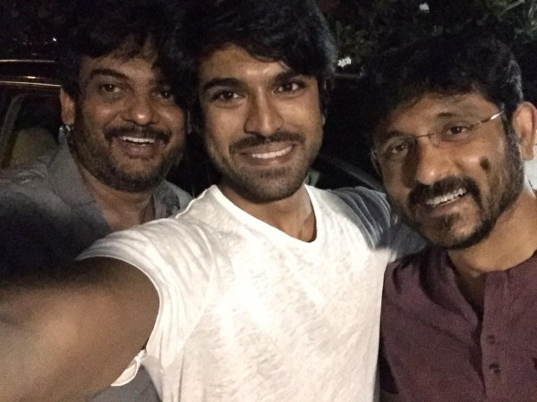 Ram Charan's Selfie with Puri Jagannath and BVS Ravi