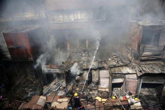 fire in Mittai Theruvu kerala