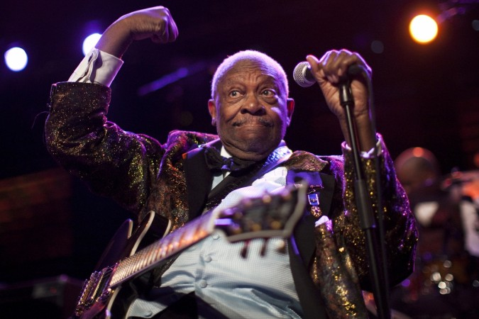 Bblues legend B.B. King performs onstage during the 45th Montreux Jazz Festival in Montreux July 2, 2011.