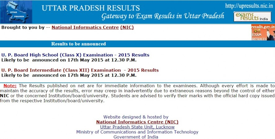 Uttar Pradesh Board Results 2015 to be Declared on 17 May at 12:30 pm