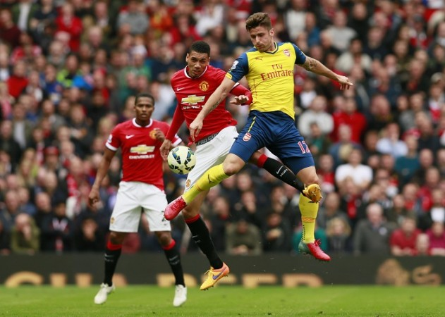 Chris Smalling Manchester United Olivier Giroud Arsenal