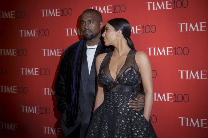 Kim and Kanye at the Time 100 Gala red carpet