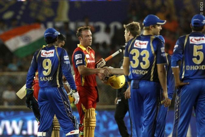 AB De Villiers RCB Rajasthan Royals