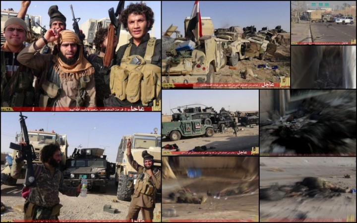Isis militants after taking over the Iraqi city of Ramadi have massacred many soldiers. The Iraqi security forces abandoned their posts, leaving behind dozens of US humvees.