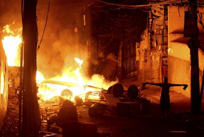 woman set ablaze in-law's house