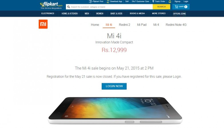 Xiaomi Mi 4i Flash Sale 4.0 to Go Live on 21 May; 30,000 Units Up for Grabs