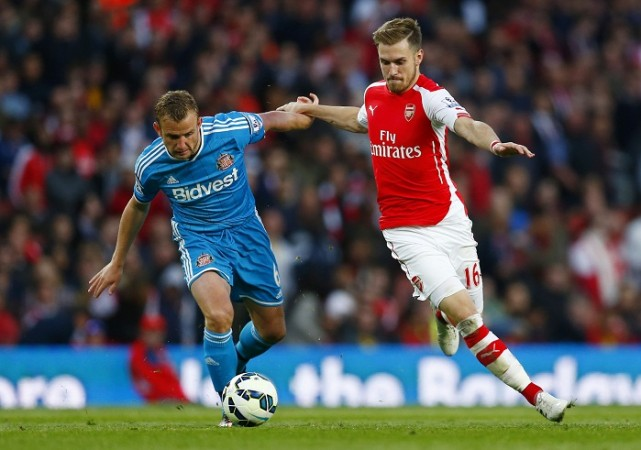 Aaron Ramsey Arsenal Lee Cattermole Sunderland