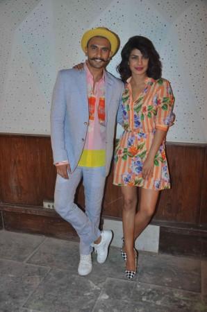 Ranveer Singh and Priyanka Chopra during 'Dil Dhadakne Do' press meet