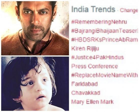 Shah Rukh Khan's Son AbRam Giving Tough Competition to Salman's 'Bajrangi Bhaijaan' Trailer?