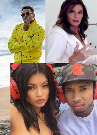 Chris Brown; Caitlyn Jenner; Kylie Jenner with Tyga