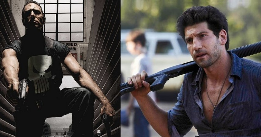 The Punisher in Marvel comics; Jon Bernthal in The Walking Dead