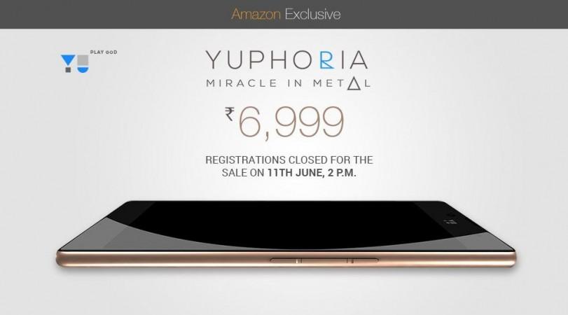 Micromax YU Yuphoria Amazon India Flash Sale 3.0 to Start on 11 June