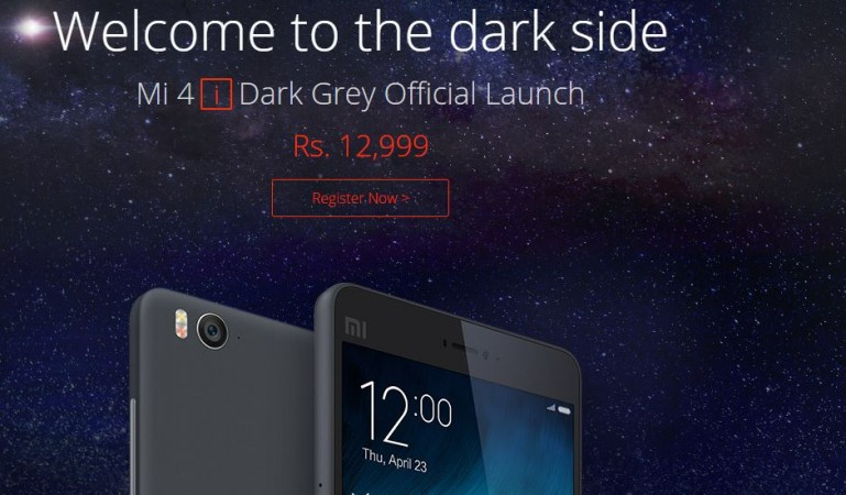 Xiaomi Mi 4i Dark Grey Launched in India; Registration Opened for Flash Sale Next Week