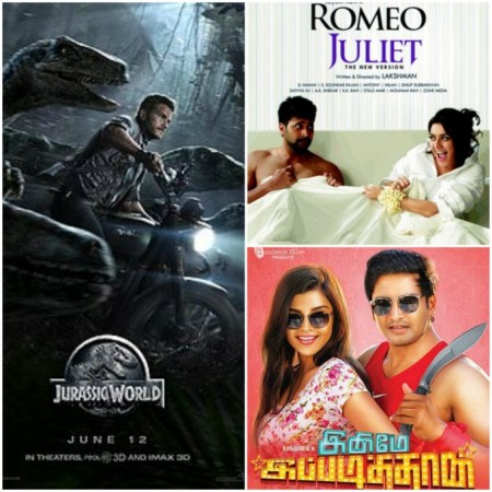 'Jurassic World' Beats 'Romeo Juliet', 'Inimey Ippadithaan' in Chennai