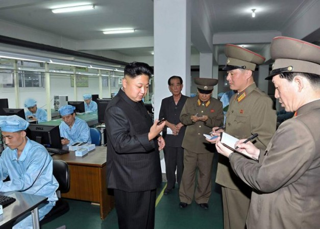 Instagram reportedly has been blocked in North Korea. File photo shows N Korean dictator Kim Jong Un inspecting country's first 'Arirang' smartphone.