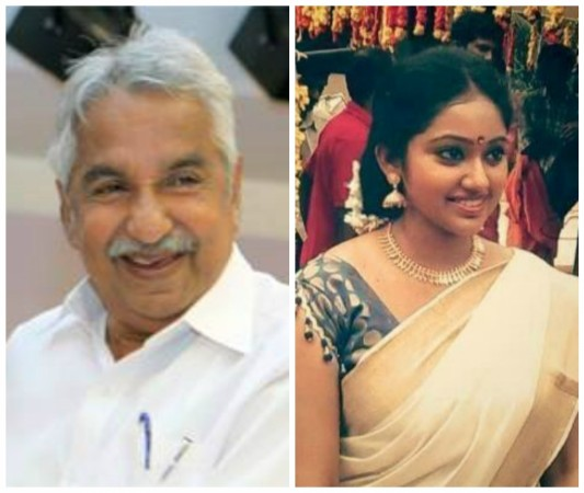 Oommen Chandy and Meghna Vincent