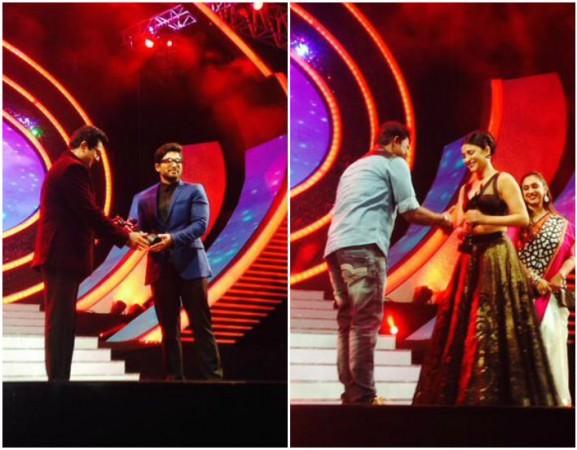 Allu Arjun, Shruti Haasan receive Best Actor Filmfare Awards South 2015 for their performance in Race Gurram