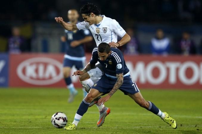 Edinson Cavani Uruguay Angel Di Maria PSG