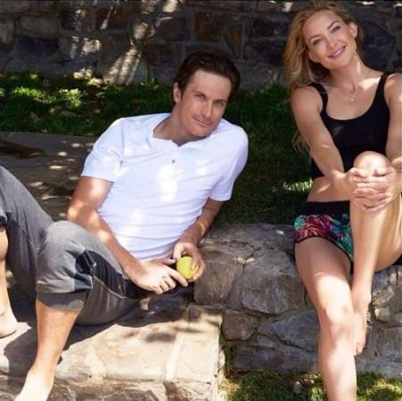 Oliver and Kate Hudson