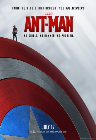 Ant-Man on Captain's shield