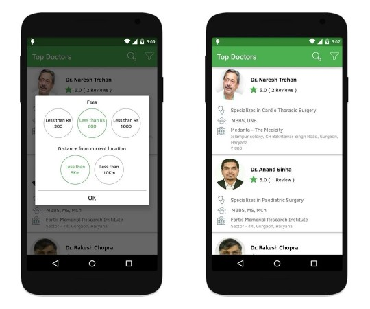 Doctors by 1mg, Free to Download Android, iOS and Windows Mobile app to Find a Doctor in Delhi NCR