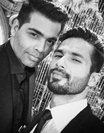 Karan Johar and Shahid Kapoor